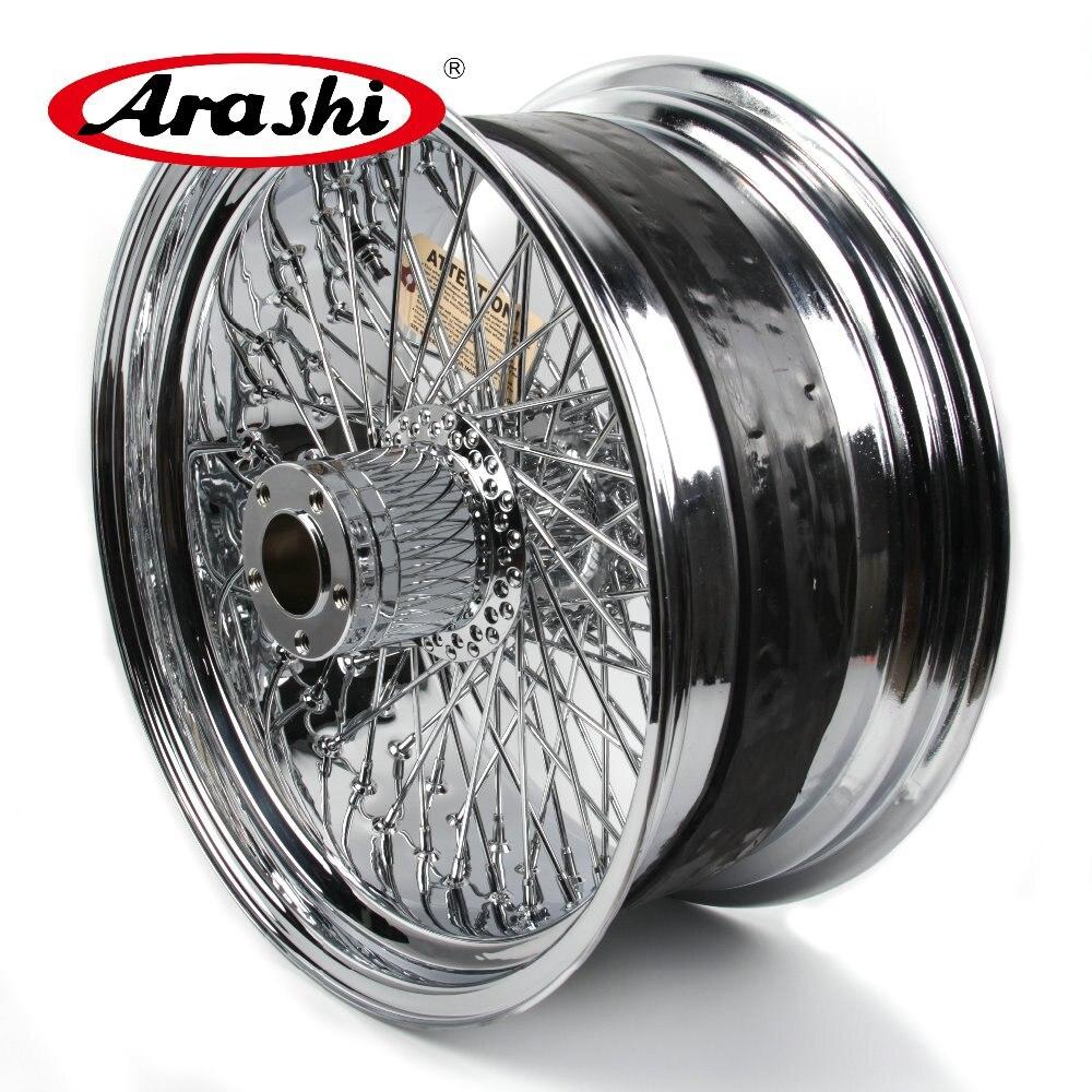 Arashi Date 18 x8.5 Roue Arrière Jante Pour Harley XL 1200 R SPORTSTER ROADSTAR XR 1200 X Chrome modification Moto Roue Jantes