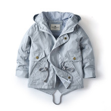 2 3 4 5 6 7 Years Baby Toddler Boys Girls Spring Autumn Jacket Brand Kitted Tops Outerwear Boys Hooded Clothes Children Outfit