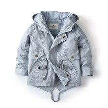 Veste de printemps automne pour bébés garçons et filles de 2 de 3 de 4 de 6 à 7 ans, vêtements dextérieur à capuche de marque