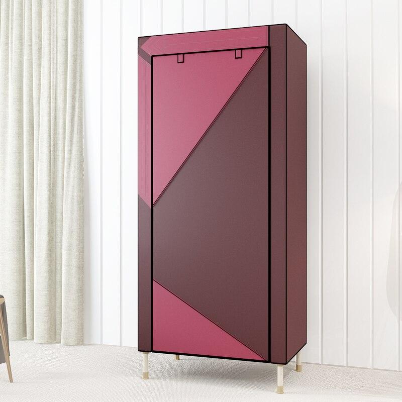 Renfort épaissir tissu armoire en acier tuyau bricolage étudiant armoire placard vêtements armoire de rangement de haute qualité meubles de maison