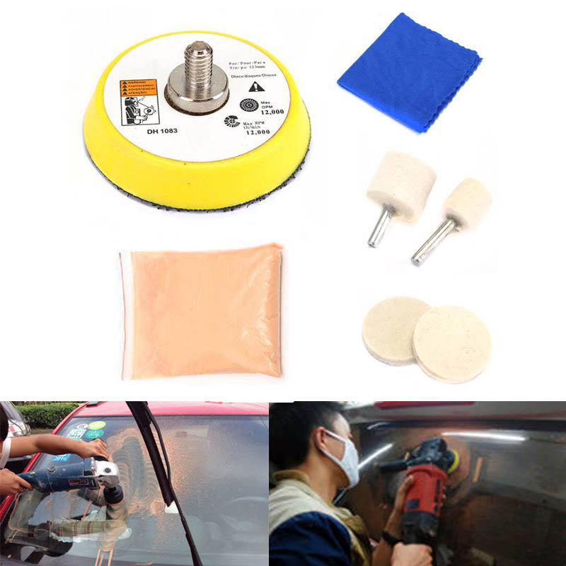 Car Glass Polishing Kit Windscreen Window Scratches Remover Repair Tool XR657(China)
