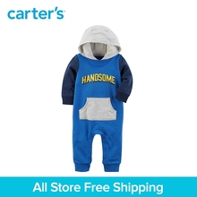 Carter's baby children kids clothing boy spring&summer Handsome Hooded Jumpsuit a go-to for easy dressing quick change 118H962