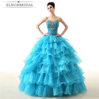 Sky Blue Quinceanera Dresses 2017 Sweetheart Vestidos De 15 Ball Gown Prom Dress Girls Pageant Gowns Sweet 16 Party