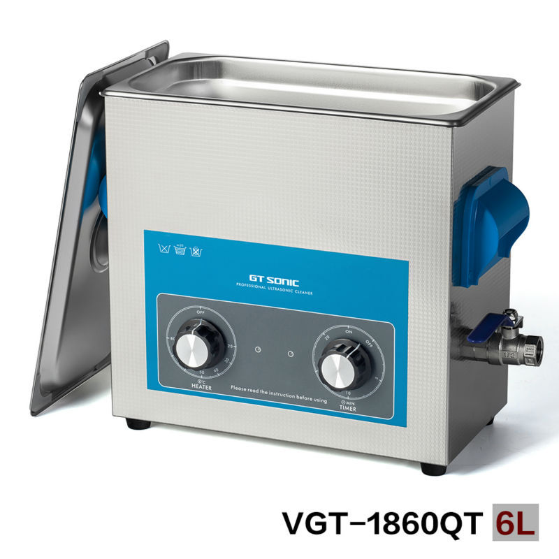 GT SONIC Weapons ultrasonic cleaner for guns washing with basket, with timer and heater 110V, 220V VGT-1860QT dalmatia 1 175 000