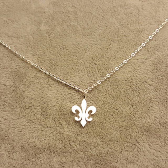 Aliexpress Buy Stainless Steel Fleur De Lis Charm Necklaces