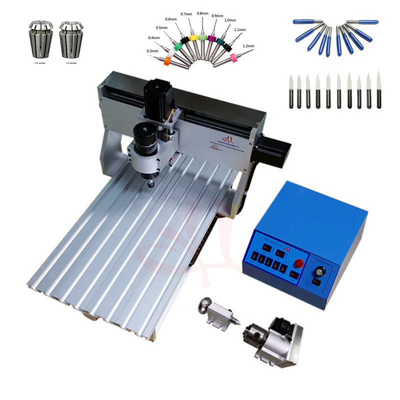 LY 3020Z 500W 3axis Mini DIY Engraving Machine  CNC Router 4axis ER11 Collet Woodworking