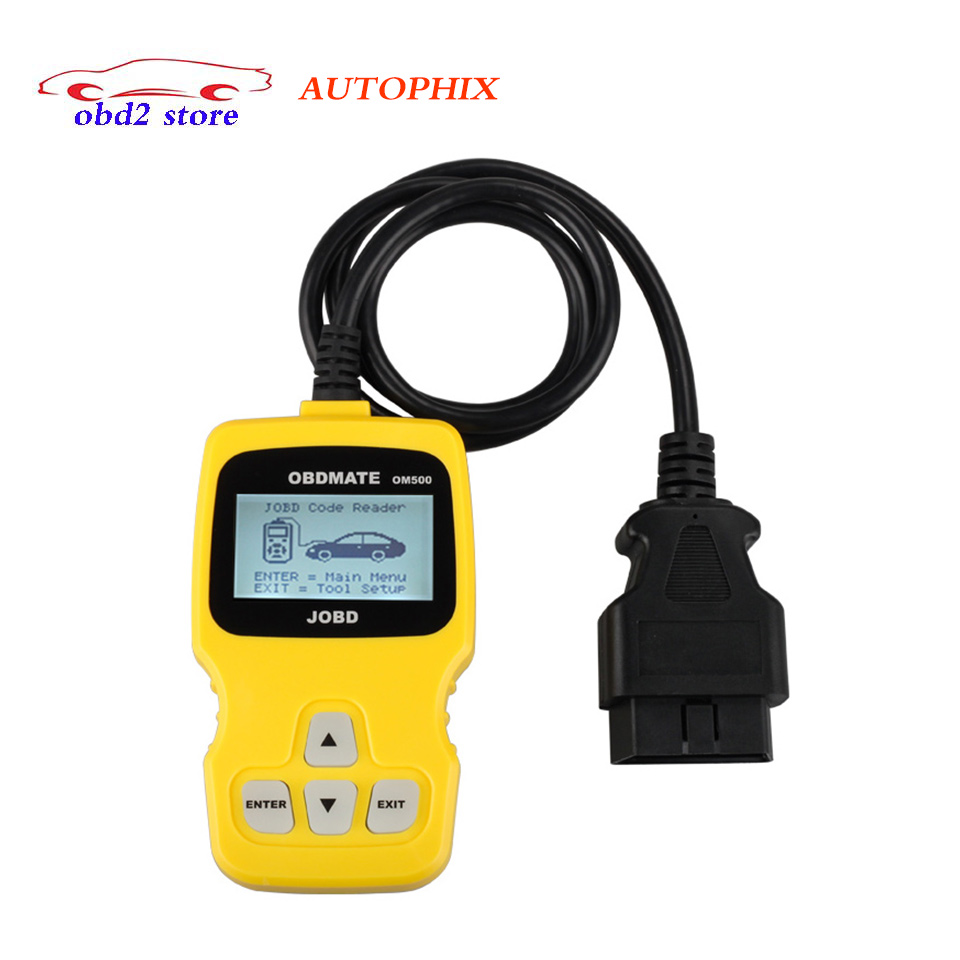 OM500 Professional Auto scan Original OBDMATE OM 500 OBDII Car OBD2 16 Pin Diagnostic-tool OM-500 Code reader Diagnostic Scanner 2017 xtuner x500 bluetooth auto obdii code reader scanner works on andriod windows x500 obd2 car diagnostic tool free shipping
