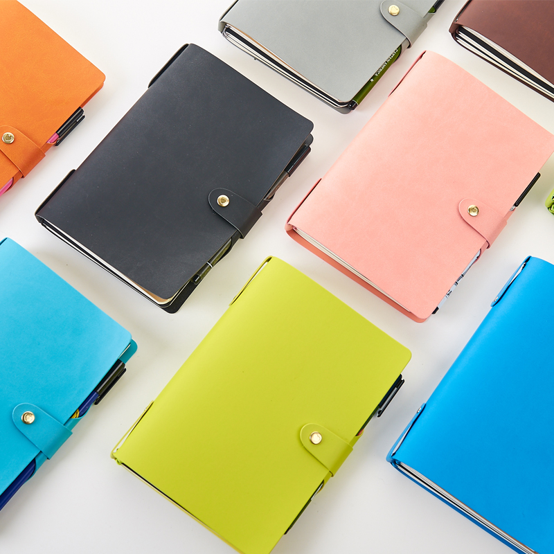 все цены на 2018 New candy leather school student traveler journal notebook stationery,fine cute rainbow travel diary notebook gift thick A5 онлайн