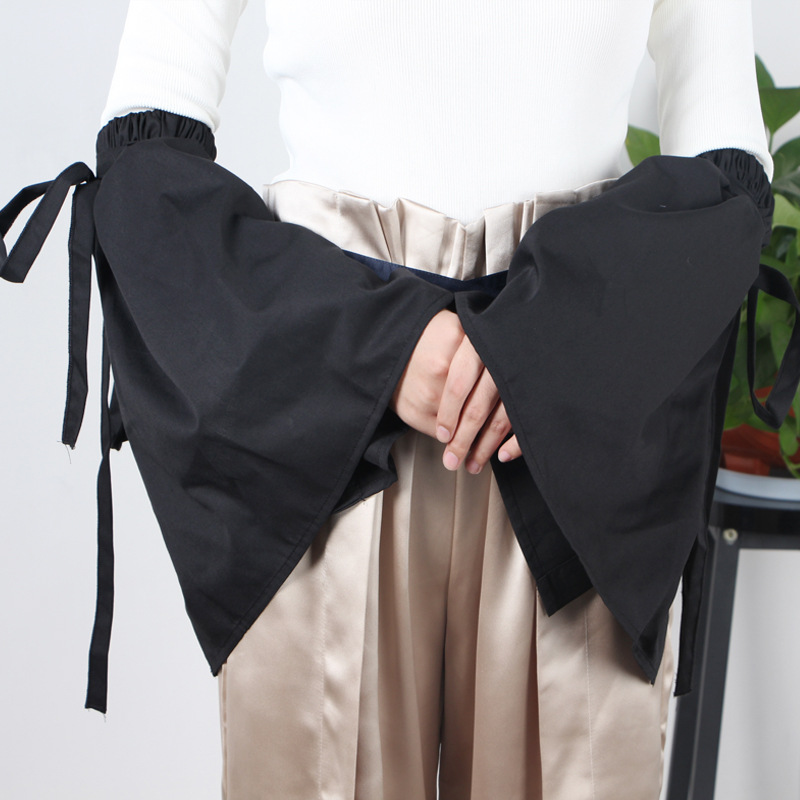 European Straps Trumpet Sleeves Women Summer UV Protection Ice Sleeves Long Section Wild Layer Fake Cuff Sleeves Chiffon Sleeves