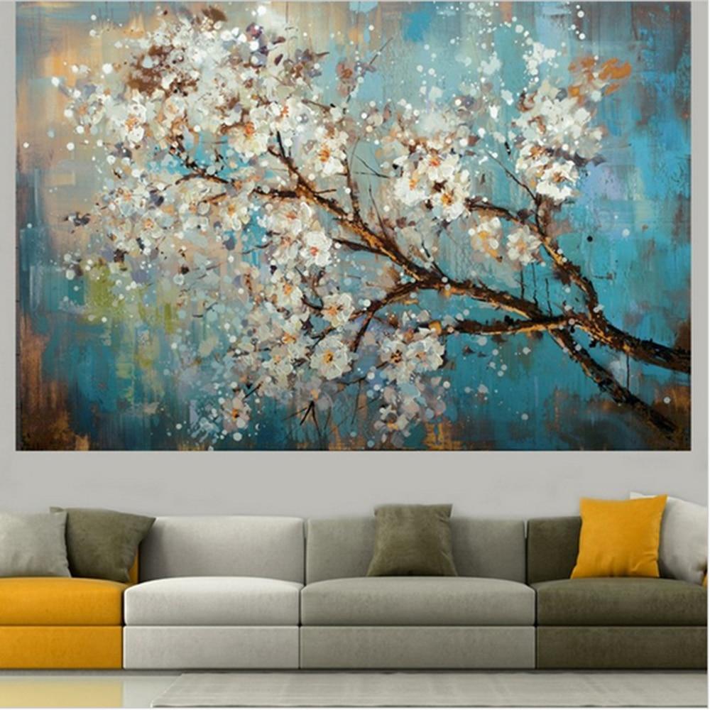 Mintura ручная роспись цветы и дерево Рисование современные картины маслом на холсте настенные картины для гостиной домашний Декор без рамки - Цвет: MT160057