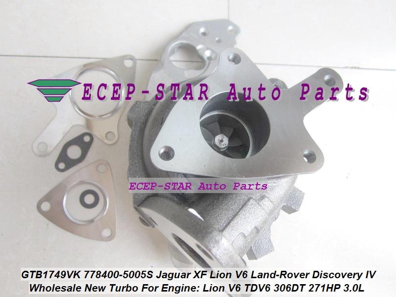 GTB1749VK 778400 778400 0003 AX2Q6K682CB AX2Q6K682CA Турбокомпрессор 《 Jaguar XF Лев V6 для Land Rover Discovery Характеристическая вязкость полимера 09 TDV6 306DT 3.0L
