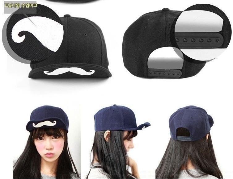 solid color mustache baseball caps short brim cap unisex hat (4)