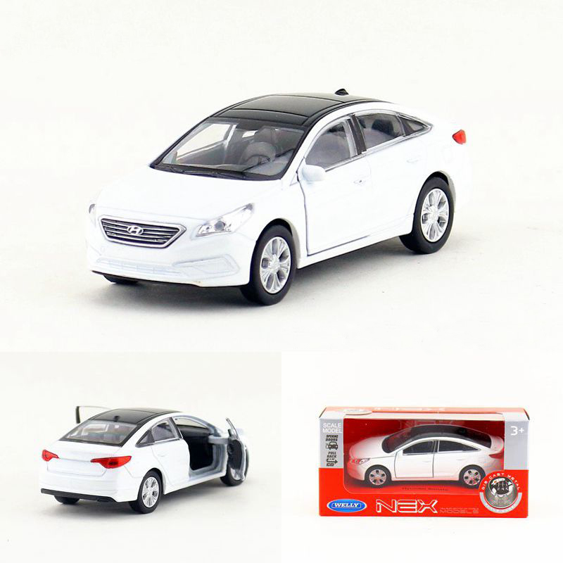 High Simulation 1:36 Scale Alloy Pull Back Hyundai Motor Sonata Car Metal Model Toys Kids Gifts Toys Collection Free Shipping