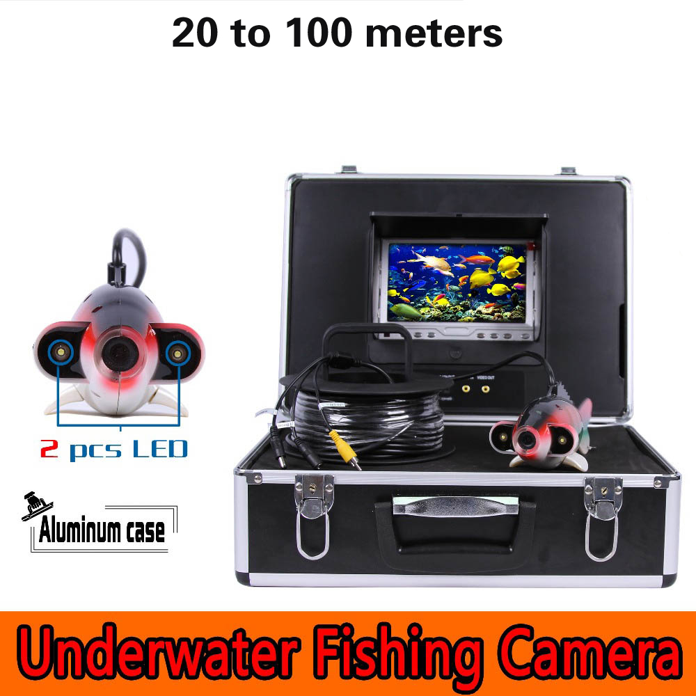 (1 Set) 100M Cable 7 inch Color Monitor HD 700TVL Waterproof Fish Finder Underwater Fishing Camera endoscope system inspection цена
