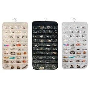 80 сетчатых карманов/набор Organizadores коробка подвесной органайзер для ювелирных изделий дисплей серьги Кольца Браслеты сумка для хранения веш...