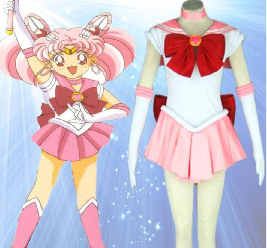 Anime chaud marin lune Cosplay Chibiusa Cos Halloween homme femme Cosplay Costume robe + manches + cravate + nœud + cravate + cravate + chapeaux