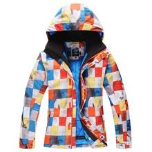 gsou snow ski suit outdoor single men skiing clothing windproof waterproof thermal ski men jacket