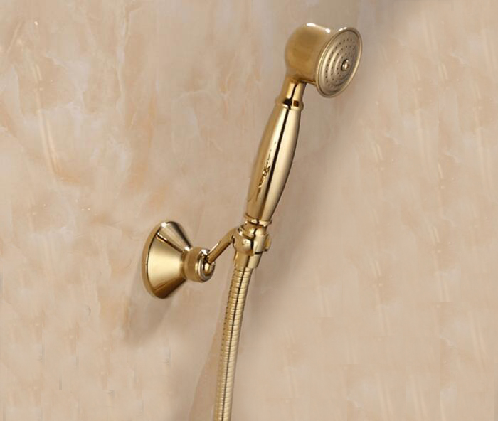Shower Head Hose Gold Plated