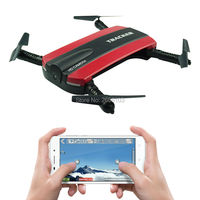 JXD 523 Tracker Selfie Kieszonkowy Wysokości JXD523 Pomieścić Składany Mini RC Quadcopter Drone WIFI Kamery FPV Helikopter Bezgłowe VS H37