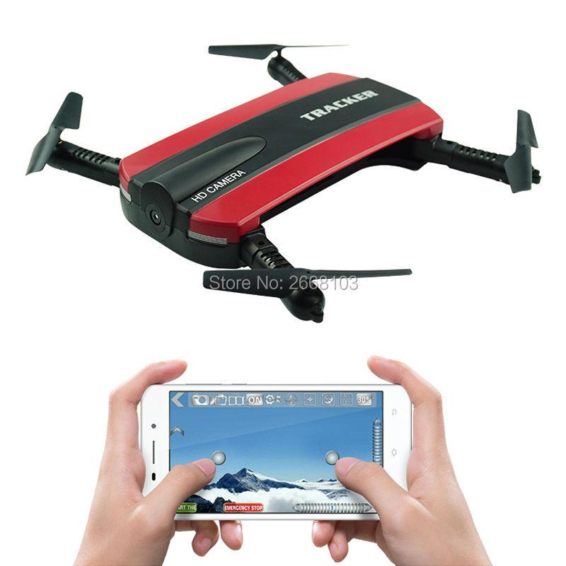 JXD 523 Tracker Selfie Pocket Drone Höjdhåll Flikbar JXD523 Mini RC Quadcopter WIFI FPV Kamera Helikopter Headless VS H37