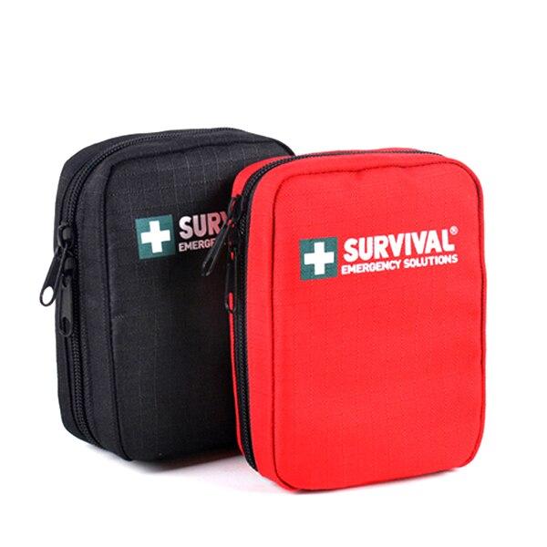 Portátil mini sacos de sobrevivência emergência família kit primeiros socorros kits viagem esporte à prova dnylon água náilon medicina ao ar livre saco de armazenamento pílula