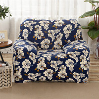 SunnyRain Polyester Blue Sofa Cover Elastic L Shaped Sofa Cover Slipcover For Sectional Sofa Three Seat
