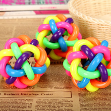 Free shipping New Design Pets Rope Ball Toys Bite Ball Colorful Squeak Toys Dog Wool Ball Toys 3 Sizes Pet Puppy Chew Toys