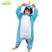 EOICIOI Pajamas for boys children s christmas pajamas Blue Pink Unicorn Baby girls sleepwear warm font