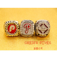 2017 Factory Direct Sale One Set 3PCS MLB 1980 2008 2009 Philadelphia Phillies World Series Championship