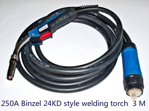 MIG MAG welding machine/equipment accessories Binzel 24KD weld torch /gun with europ connector for the NBC NB welding equipment mig wire feeder motor 76zy02a dc24v 18m min for mig welding machine