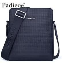 Padieoe Brand Fashion Men Bag PVC Casual Male Crossbody Shoulder Messenger Bags