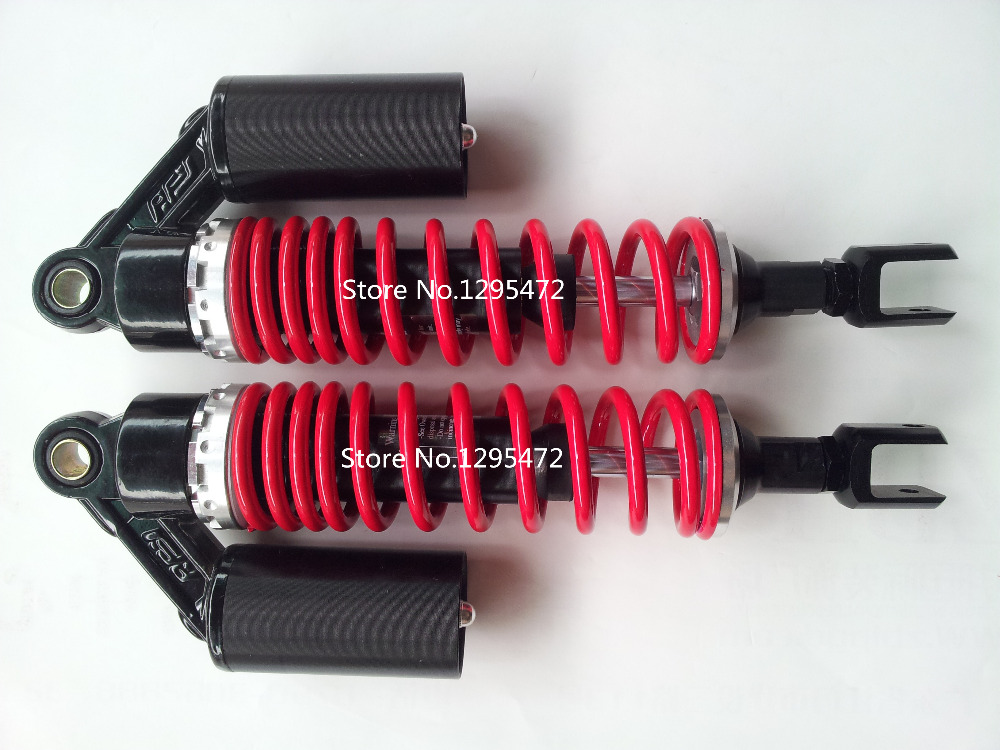 цена на new 13.5 340mm Air Shock Absorber 7mm spring For yamaha Honda CB750 CB 750 CB 250 350 400 Dirt Bike Gokart Quad ATV red