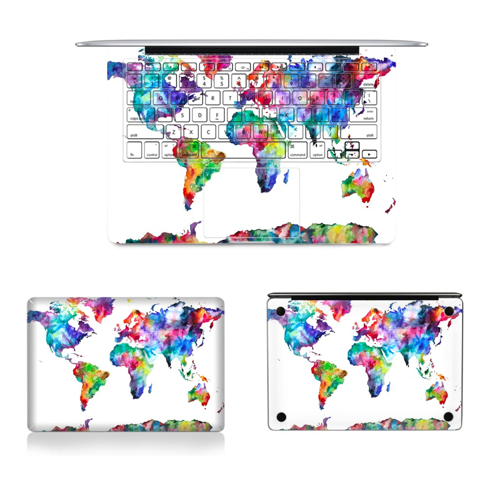 Ycsticker 4 in 1 set laptop full vinyl decal top bottom keyboard ycsticker 4 in 1 set laptop full vinyl decal top bottom keyboard sticker world map skin for macbook air retina pro 11 12 13 15 in laptop skins from computer gumiabroncs Gallery