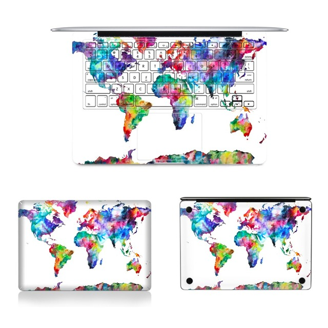 Ycsticker 4 in 1 set laptop full vinyl decal top bottom keyboard ycsticker 4 in 1 set laptop full vinyl decal top bottom keyboard sticker world map gumiabroncs Choice Image