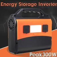 300 Вт портативный солнечный генератор питания 220 В AC USB 15 В DC Выходная мощность ЖК цифровой источник питания для хранения дома на открытом воз