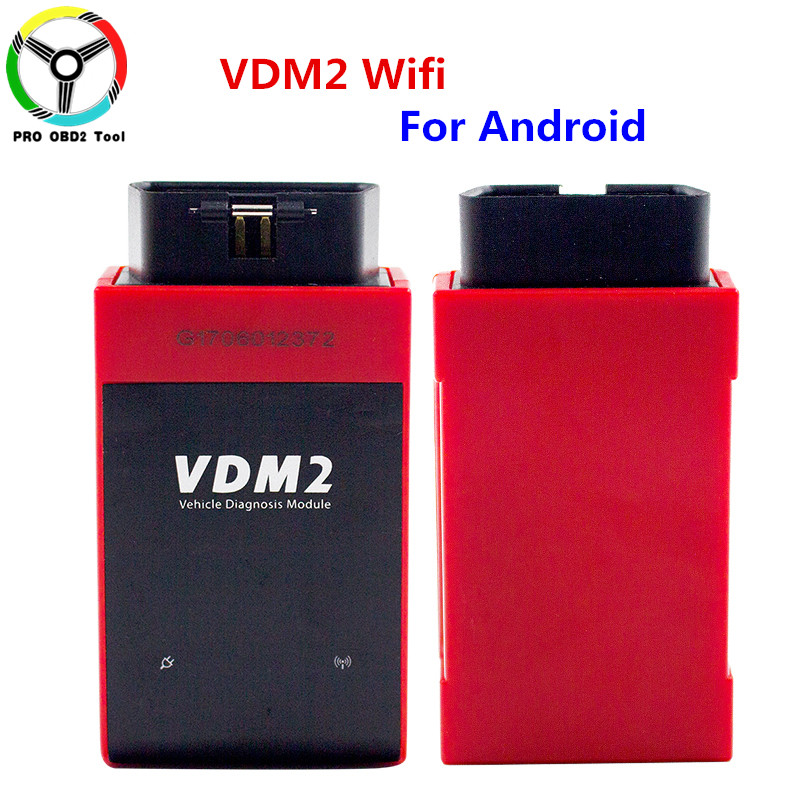 New arrival Multi-Language Newest Wifi UCANDAS VDM2 full systems Auto Diagnostic Scanner for Android VDM II Update Online Free vdm ucandas wifi full system automotive diagnostic tool multi language newest version v3 73 include for h onda adapter