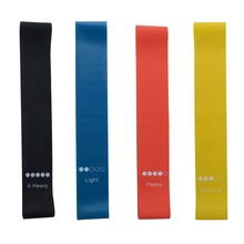 4 Pieces Rubber Yoga Resistance Bands Fitness 1.1/0.5/0.9/0.7 Workout Elastic Training Band 4 Levels Expander for Fitness