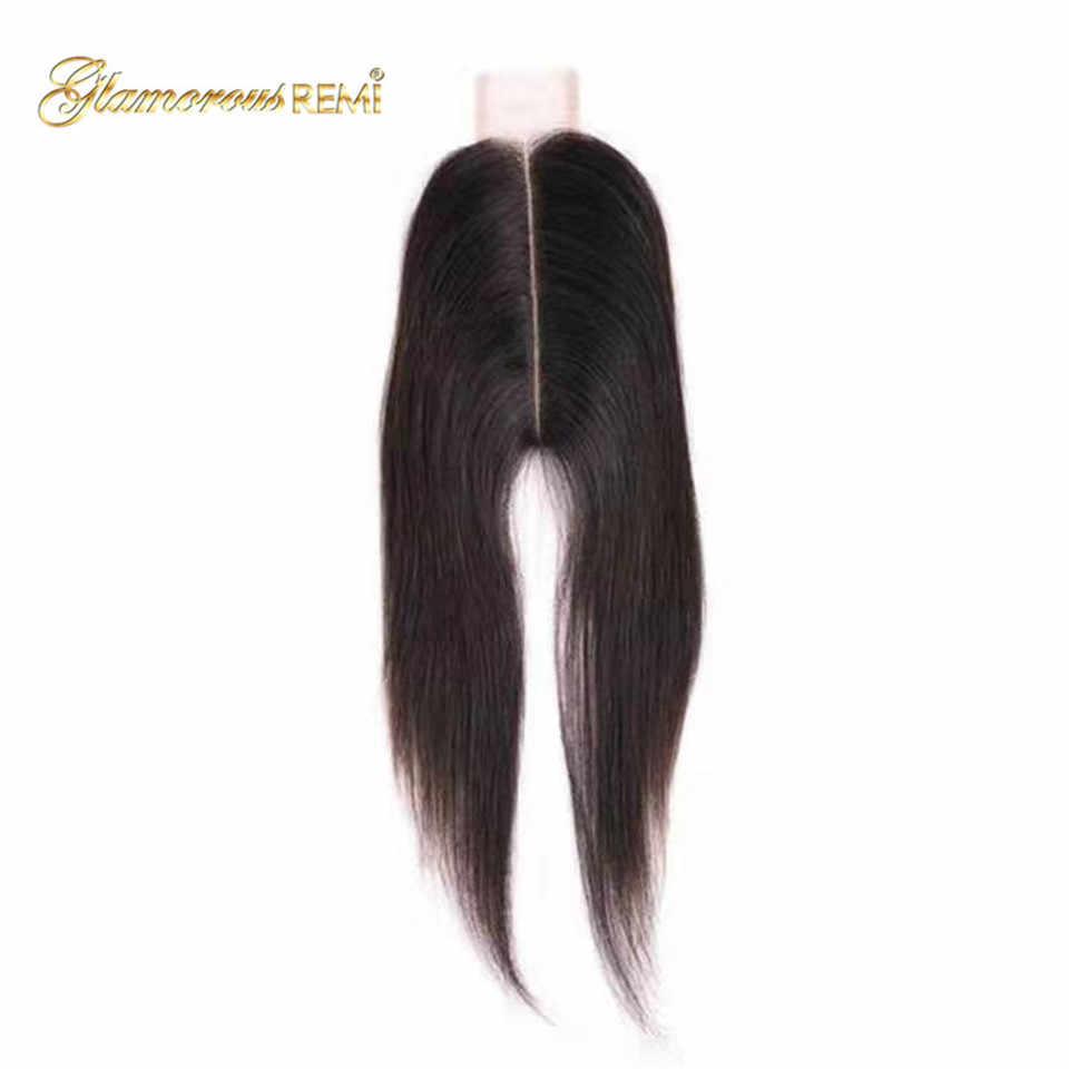 100% человеческие волосы Remi закрытие бразильские прямые 2x6 закрытие отбеленные узлы с волосами младенца 1b средняя часть швейцарская шнуровка