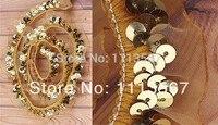 Großhandel 30 yards 1Row Handwerk Goldene Organza Stretch Sequin Perlen Spitze Trimmen Nähen Lieferanten Nähen Trim 23mm T42