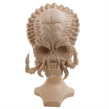 P-płomień Aliens vs Predator Rzeźby Film Rekwizyty Dekoracji Akwarium Żywicy Rzemiosła MAJSTERKOWANIE Malowanie Albuginea Czaszki