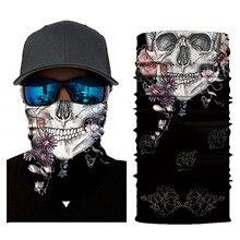 6d424d640f49 Costume Halloween Cosplay Effrayant Masque Festival Masques de Crâne  Squelette Extérieur Moto Vélo Multi Masques Écharpe
