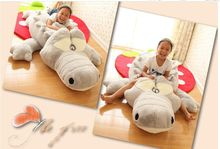 Cartoon crocodile plush toy, huge 200cm Crocodile sleeping pillow Christmas gift d6277