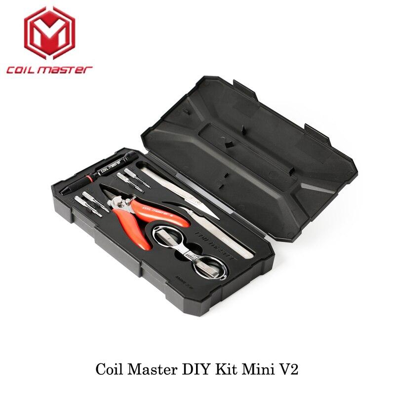 Spule Master DIY Kit Mini V2 Alle-in-One CoilMaster V2 Elektronische Zigarette RDA Zerstäuber spule werkzeug tasche zubehör Vape vaperizer