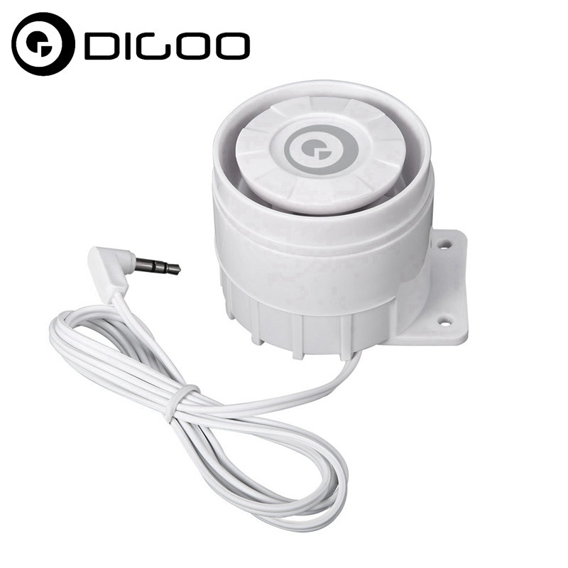 Digoo DG-HOSA 433MHz External Speakers Wired Alert Siren Kits 3.5mm 15W 12DC for Smart Home Security System ...