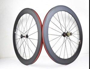 Image 2 - 700C Углеродные колеса 38 мм 50 мм 60 мм 88 мм дорожные велосипедные колеса клинчеры или трубчатые Углеродные колеса