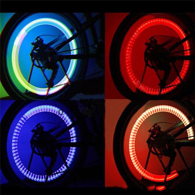 Us 186 Diody światła Rowerowe Mountain Road Bicycle Zawór Opony Opony Caps Szprychy Kół Led światła 7 Kolory W Diody światła Rowerowe Mountain Road