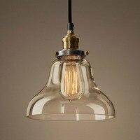 Vintage Glass Pendant Light Transparent Restaurant Lamp Bar Pendant Light American Style Lamps D8187