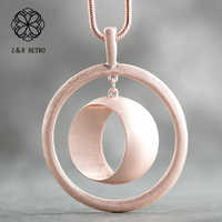 Round Long Chain Necklace Women Personalized Necklace Jewelry Handmade Necklaces & Pendants Collar Mujer Party Presents