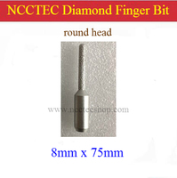 Round Head 8mm 5 16 Straight Diamond Vacuum Brazed Router Finger Bit With 1 2