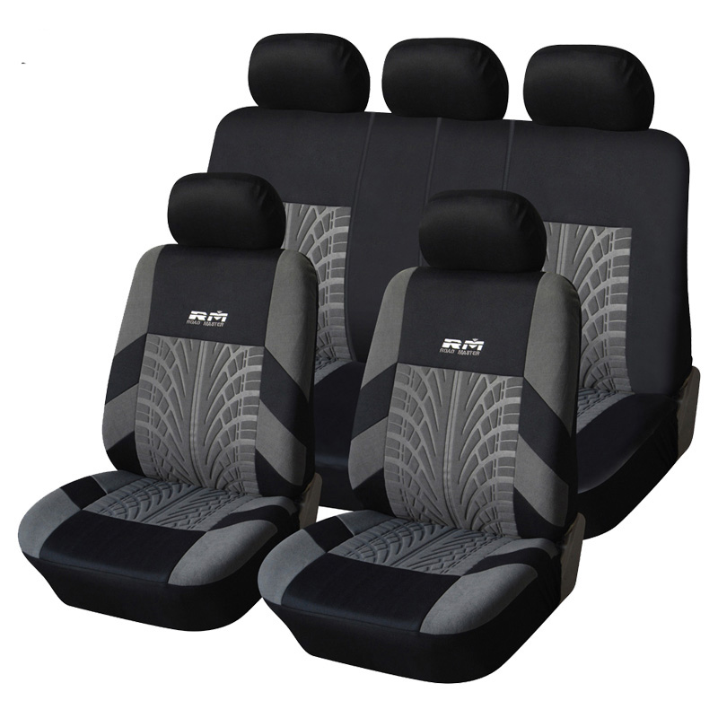 Car Seat Cover Polyester Fabric Universal Automobile Seat Covers For Car Seat Protector Car Styling Interior Accessories kkysyelva universal leather car seat cover set for toyota skoda auto driver seat cushion interior accessories